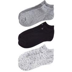 Calvin Klein Hosiery Logo Ankle Socks, Set of 3 ($19) ❤ liked on Polyvore featuring intimates, hosiery, socks, grays, calvin klein, short socks, gray socks, ankle socks and logo socks