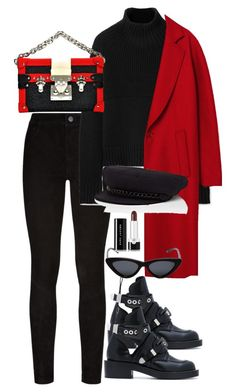 """Untitled #5425"" by theeuropeancloset on Polyvore featuring Paige Denim, Burberry, Balenciaga, Eugenia Kim, Le Specs and Marc Jacobs"