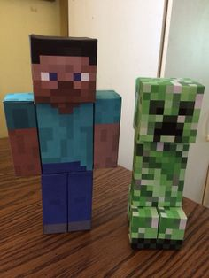 MC Character Table Decorations by FriendlyFrogsPinatas on Etsy, $7.00