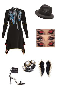 """""""Untitled #366"""" by i-would-prefer-not-to ❤ liked on Polyvore featuring Peter Pilotto, Gianvito Rossi and Gottex"""