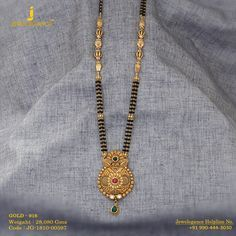 Gold 916 Premium Design Get in touch with us on Gold Mangalsutra Designs, Gold Jewellery Design, Gold Jewelry, Beaded Jewelry, Gold Necklace, Indian Jewelry, Albums, Touch, Necklaces
