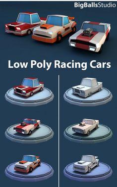 Low Poly Racing Car - 3DOcean Item for Sale: