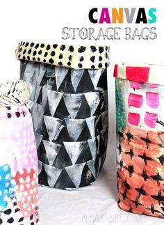 canvas storage bags