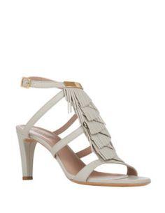 CHLOE Fringe-Trim Sandals