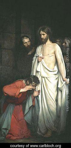 Doubting Thomas - Carl Heinrich Bloch - www.carlbloch.org