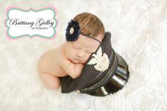 Police Hat Newborn Baby Newborn Photography Cleveland | Brittany Gidley Photography LLC