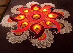 Indian Rangoli Designs, Rangoli Designs Latest, Simple Rangoli Designs Images, Rangoli Designs Flower, Rangoli Border Designs, Rangoli Designs With Dots, Beautiful Rangoli Designs, Latest Rangoli, Diwali Designs