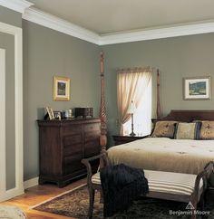 Factory Paint & Decorating: Benjamin Moore Regal Select Interior Paint - Heather Gray walls