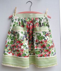 Vintage Strawberry Chintz Fabric Apron. But who actually uses aprons anymore?                                                                                                                                                                                 More
