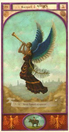 (29) REIYEL (Kabbalistic angel) protects those born 13 - 17 August, to get rid of enemies and restore faith. (ángel Cabalístico) protege aquellos nacidos 13 - 17 agosto, para librarse de los enemigos y recuperar la fe.