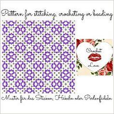 Purple Garden: Pattern for stitching, crocheting or beading - Muster für das Sticken, Häkeln oder Perlenfädeln