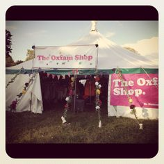Oxfam shop at latitude festival