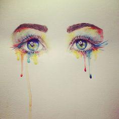 Resultado de imagen para watercolor eyes illustration