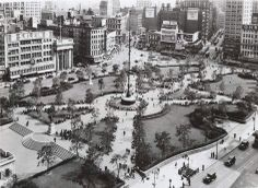 Rogers, Peet & Co. advertisement - Union Square, aerial view, 1944.