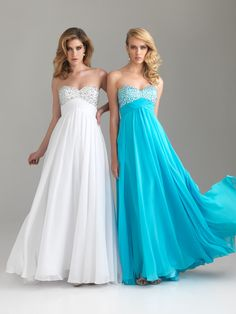 I love the blue one. :) looking for a pretty dress for my cousins wedding in January