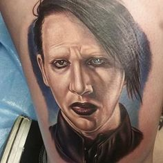 Marilyn Manson by @bmerck_ink
