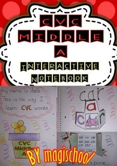 CVC Middle A -  Interactive Notebook