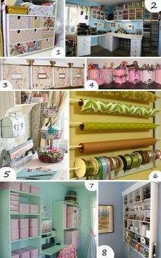 Great Ideas for organizing your Craft Room/Home Office
