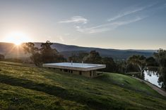 Buxton Rise Timber Windows, Timber Beams, Melbourne, Exposed Aggregate Concrete, Laminated Veneer Lumber, Rural House, Masonry Wall, State Forest, Roof Design