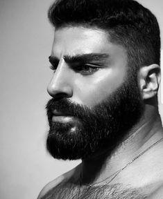 Beard Head, Hairy Hunks, Arab Men, Perfect Beard, Good Morning World, Beard Lover, Bearded Men, Hair Cuts, Guys