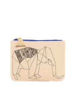 Origami Elephant print on pouch by Pull & Bear