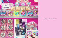 Superhéroe femenina Cupcake Toppers por myPaperlily en Etsy
