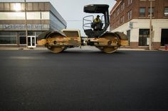 Downtown Bay City smells like fresh asphalt as Washington Avenue resurfacing underway   MLive.com