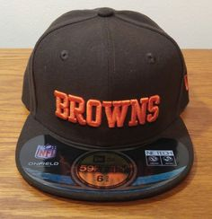 a565c13fd1d19 Era 59fifty Cleveland Browns on Field Football Hat 6 3 8 Fitted Youth Kids  for sale online