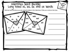 Valentine's Long Vowel Games and Activities is from Games 4 Learning. $ It is loaded with Valentine's phonics fun with long vowels.