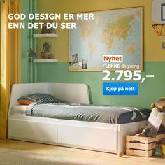 071181c70d8840 FLEKKE Dagseng med 2 skuffer 2 madrasser, hvit, Husvika fast - 80x200 cm