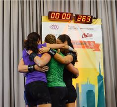 Champions of the 20kg Jerk Relay of the West Coast Classic on February 8, 2014 -- this was the 1st time five female Masters of Sport participated in this event as women are still not allowed to perform them at sanctioned contests in Russia. #trailblazingKBsport  #girlpower