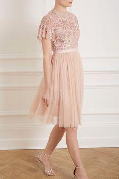 303e10f79844 Dream Rose Dress in Rose Quartz from Needle & Thread's New Season  Collection. Black Tie