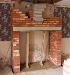 New chimney build using Anki pumice liners for a wood burning stove installation in Thorpe Bay, Essex 2009 by scarlett fireplaces