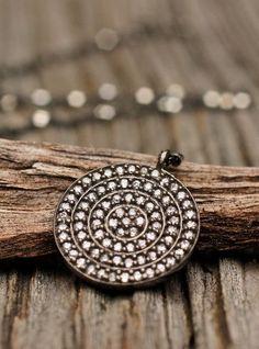 Beautiful Necklace CZ White Stone Necklace Amy Fine Design