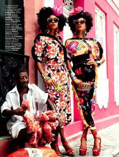 Carmen Miranda Reloaded, Vogue Brasil Feburary 2013. Photographer Giampaolo Sgura
