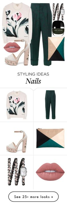 """Ringing in the Green"" by fashionforwarded on Polyvore featuring Marni, Burberry, Chanel, Chinese Laundry, Marc Jacobs, Sole Society, Lime Crime and nailedit"