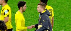 Marco Reus and Sahin handshake