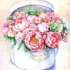 Watercolor Print, Watercolor Illustration, Watercolor Flowers, Vintage Wallpaper, Rose Wallpaper, Glass Photography, Fashion Artwork, Drawings Of Friends, Decoupage Vintage