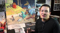 Shaun Tan explains his drawing process -- The 'Extras' for Rules of Summer