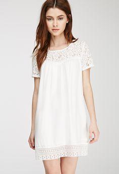 Lace-Paneled Babydoll Dress | FOREVER21 - 2000080431