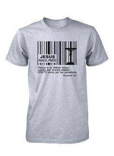 Jesus Pago Precio Codigo Barras Cruz Camiseta Cristiana                                                                                                                                                                                 Más #jovenescristianos