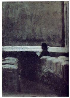 Edward Hopper - Solitary Figure in a Theatre (1904)