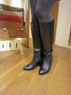 Leather High Heels, Black Leather Boots, Long Boots, Knee High Boots, Sexy Shorts, Riding Boots, Tights, Mini Skirts, Shoes Heels