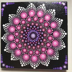 Hand Painted Mandala on Canvas, Meditation Mandala, Dot Art, Wall Art, Calming, Healing, #556 by MafaStones on Etsy