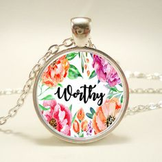 Hey, I found this really awesome Etsy listing at https://www.etsy.com/listing/503018599/worthy-1-inch-pendant-necklace-jewelry