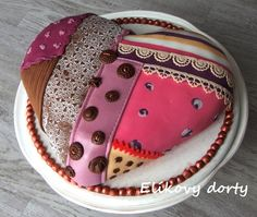Patchwork cake - heart