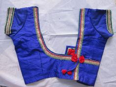 Readymade Saree Blouse - Blue color - All Sizes - Ready made - Sari Blouse - Saree Top - Sari Top - For Women