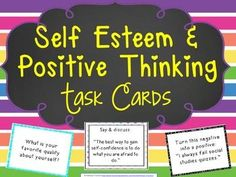 Use these 116 task cards to focus on improving self-esteem, confidence building, and encouraging positive thinking skills. They can be used in small groups, 1:1 for intensive instruction, or even in a whole class to help focus on building a positive community of learners.