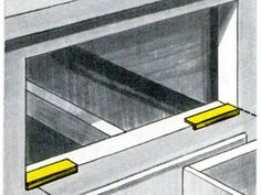 The January 1970 issue showed how to reuse a bleach bottle to ease action on a heavily laden drawer. Cut ¾ x 2—inch strips from a clean, empty bottle. Heat the plastic and fold its long side into a ¼-inch lip. Mount the strips at the bottom front corners of the drawer frame. The drawer slides on the strips, reducing friction.   - PopularMechanics.com