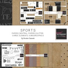 Sports Bundle by Brooke Gazarek   Pixel Scrapper digital scrapbooking